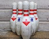 Salvaged Vintage Bowling Pins