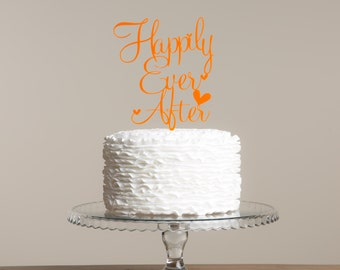 Happily Ever After Wedding Engagement Cake Topper