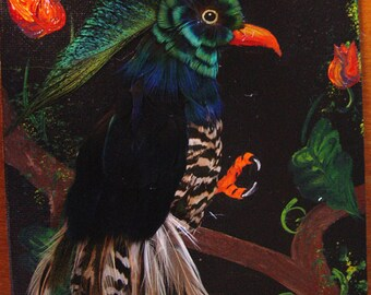 The Peacock Parrot - Feathered Paintings - The Fantasy Bird Collection