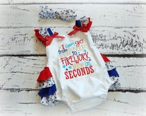 Bubble Romper, Ruffle Romper, 4th of July Baby Girl, July Fourth, Baby Gift, Size 12-18 Months