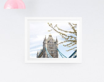 London Tower Bridge Photography Print Wall Art - London