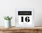 Birthday Date Name Sign Printable Wall Art Custom Gift Personalized Last Minute Gift Home Decor