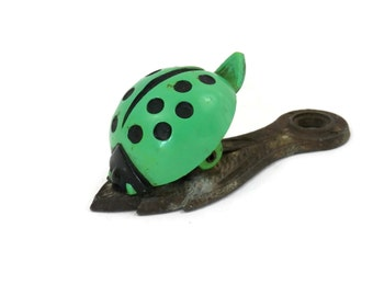 Green Ladybug Clip by Allied Brass Retro Desk Accessories
