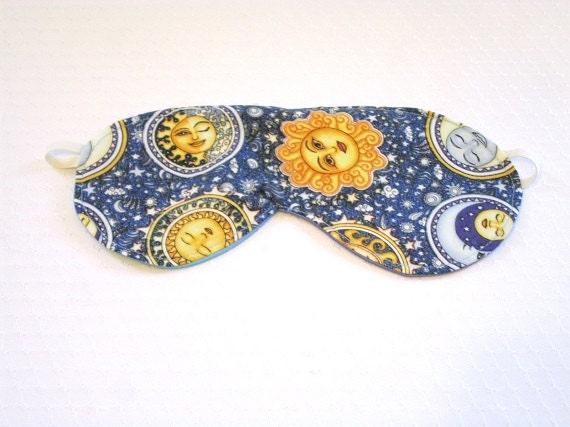Sleeping mask celestial fabric soft blue silky by for Celestial fleece fabric