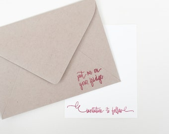 Put Me On Your Fridge Stamp   Invitation To Follow Stamp   Invitation Stamp    Wedding