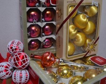 vintage Christma tree decorations