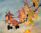 Winter leaves, home decor, canvas, office decor