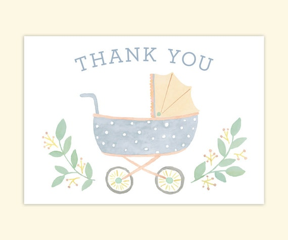 Vintage Baby Shower Thank You Cards: Baby Shower Thank You Cards Vintage Baby By LeveretPaperie