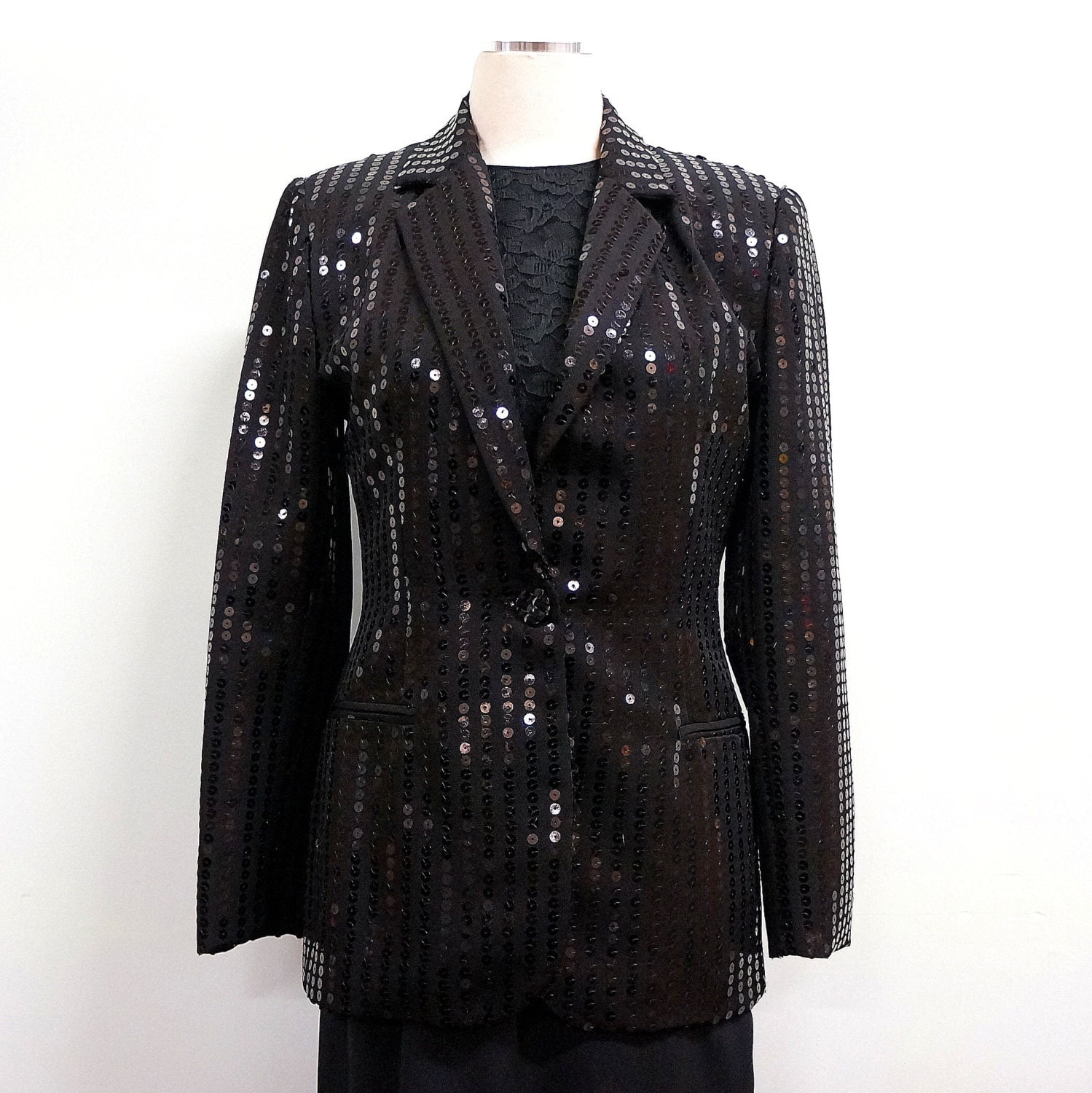 ASOS Sequin Jacket ASOS pink and black sequinned jacket with senonsdownload-gv.cf fastenings,but you could pin a brooch there if you prefer to.3/4 sleeves. #asos #sequin #party #Christmas #glamour #jacket #16 #14 #eveningwear #festival #clubbing #pink #black.
