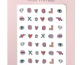 Love Nail Tattoos