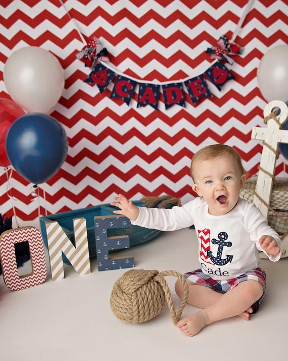 Nautical Birthday Banner 1st Birthday Boy 1st Birthday
