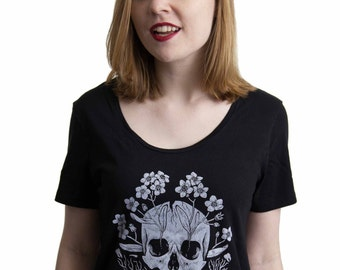 Forget-Me-Not - Scoop Neck Tshirt
