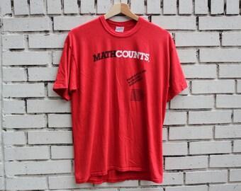 Vintage MATH COUNTS Shirt mathlete education vtg school arithmetic