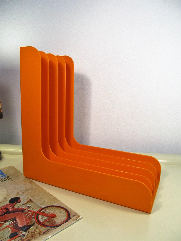 Vintage Record Player Holder Orange Color Abs Plastic Rack