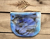 Abstract art small Pouch, blue women purses, iPhone wallet, Small Makeup Pouch