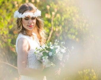 Wedding headpiece Bridal headpiece Silk flower crown Bridal headband Wedding headband Hair accessories Bridal hair piece Accessories