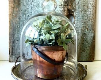 Vintage Copper Bucket Planter