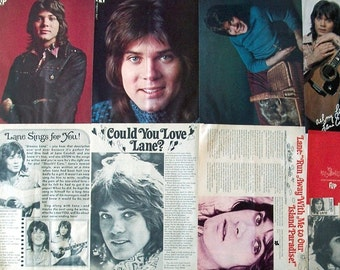 LANE CAUDELL ~ Hanging On A Star, Goodbye Franklin High, I Need A Good Woman Bad ~ Color and B&W Clippings, Articles, Pin-Ups from 1973