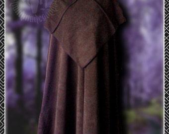 Fleece Cloak with Separate Hood, Medieval, Monk, Ritual Robes, Renaissance, LARP,