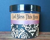 Christian Bible Gift, God Bless This Home, Scripture Jar, Christian Housewarming Gift, Hostess Gift, Wedding Gift, Engagement, Black Damask