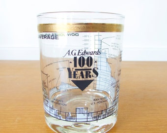 A.G. Edwards 100 Years stock market double old fashioned glass