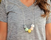 SALE!! Hexagon Silicone Teething Necklace for Mommy - BPA Free - FDA Approved Food-Grade Silicone - Baby Shower or New Mom Gift - Chew Beads