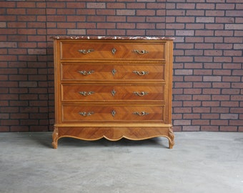 Antique French Chest / French Chest of Drawers / Marble Top Chest / French Dresser