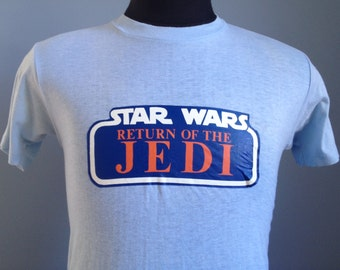 80s Vintage Star Wars Return of the Jedi Kenner 1983 T-Shirt - MEDIUM