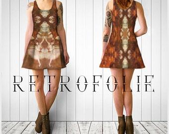 Ballerina Flare Dress, Edgar Degas, Flare dress by RetroFolie