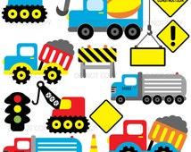 Construction clipart, under construction clip art, dump truck clipart commercial use RP-83
