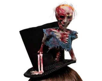 Walking Dead Inspired Crazed Zombie Top Hat