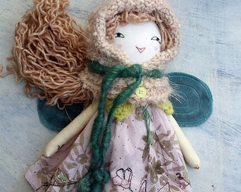 Fairy Doll, Rag Doll, Cloth Doll, Soft Doll, Handmade Doll, OOAK Doll, Heirloom Doll