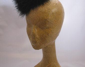 Feathered Mini Pillbox Hat