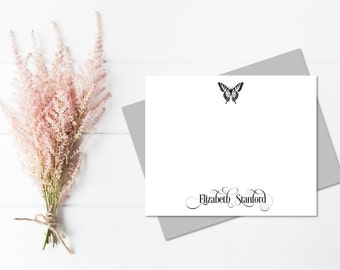 Butterfly Stationary | Butterfly Thank You Cards | Butterfly Note Cards | Vintage Stationery