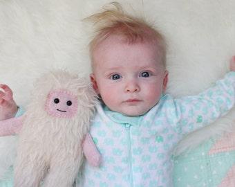 Pink Yeti Plush - Bigfoot - Sasquatch Stuffed Animal - Handmade