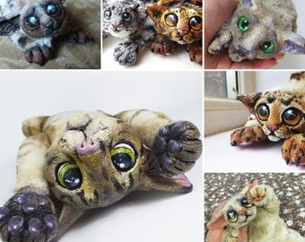 Custom OOAK Cuddly Ocofox Cat Art Doll