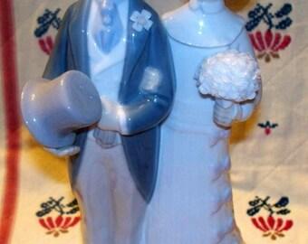 "Retired LLADRO 4808 Porcelain Bride & Groom Wedding Figurine ""Boda de Antano"""