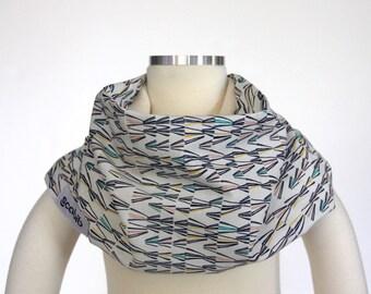 100% Organic Cotton (Blue Pink Mythos) SCABIB scarf/bib for children