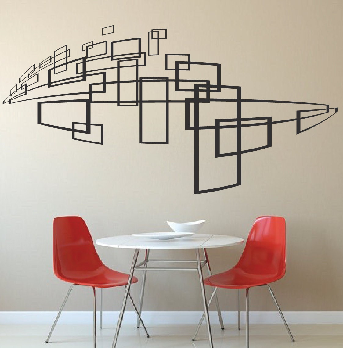 Modern wall decal sticker for interior bedroom or any room 3d for Bedroom 3d wall stickers