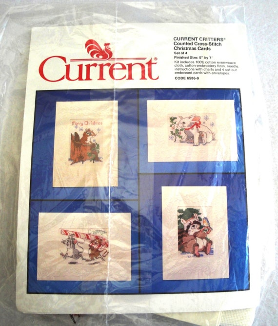 Vintage Current Critters Counted Cross Stitch Christmas ...