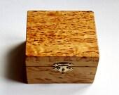 Karelian Birch Small Wedding Box Ring, Wooden Box, Handmade, Russia