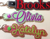 Luggage Tag, Backpack Name Tag, Key Chain, Key Fob, Snap Tab, Personalized