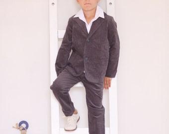 Boys blazer Wedding party Baptism Ring bearer suit Velvet jacket Boys clothes Ring bearer blazer Toddler boy blazer