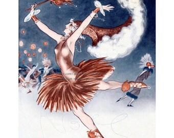 Ice Skating Girl Has One Last Fling - La Vie Parisienne - Armand Vallee