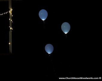 LED Glow in the Dark Balloons, Event lighting, wedding, party, birthday, decor, Helium led balloons, glow in the dark party balloons, white