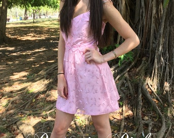 Short Pink Dress/Pink Lace Dress/Pink Party Dress/Light Pink Dress/Pink Dress Women/Pink Mini Dress/Pink Prom Dress Casual Work Birthday