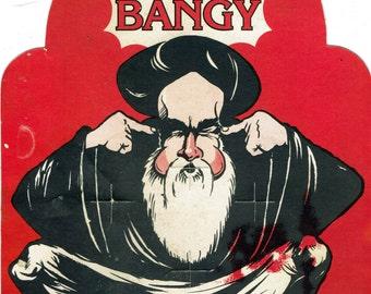 Ayatollah Go Bangy Cardboard Sign Vintage 1980's Fireworks Display