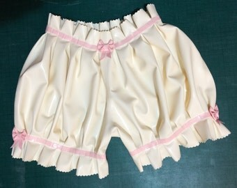 Latex Ruffled Bloomers / Knickerbockers / Pants