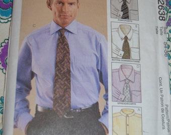 McCalls 2638 Mens Shirt Sewing Pattern - UNCUT- Size 54 - 56