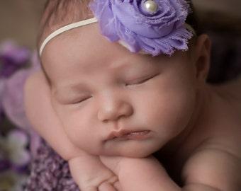 FREE SHIPPING! Lavender Headband, Lavender Baby Headband, Newborn Headbands, Baby Headbands, Baby Girl Headband, Lavender Newborn Headband